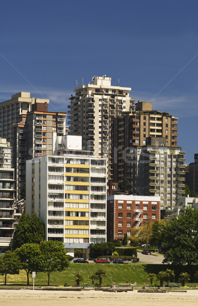 Apartments, beach and green space Stock photo © Habman_18
