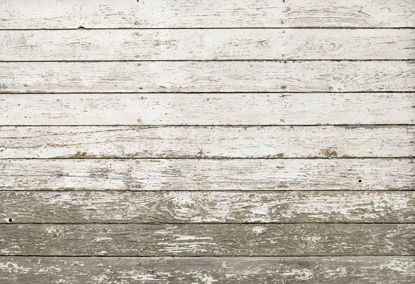 Stock photo: Old rustic white plank barn wall