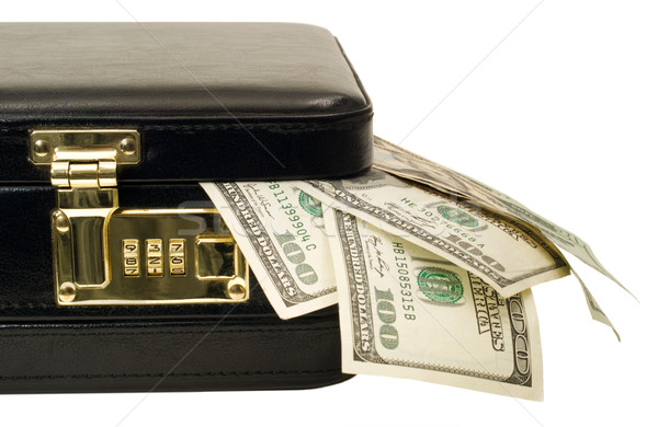 Briefcase with American money and cash Stock photo © Habman_18