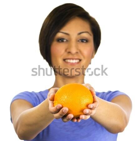 Mulher jovem laranja bastante jovem étnico mulher Foto stock © Habman_18
