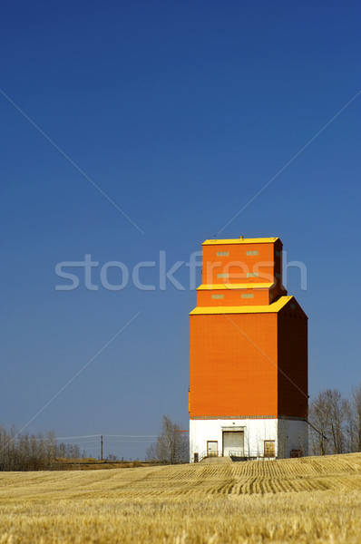Silo orange attention grain chaumes Photo stock © Habman_18