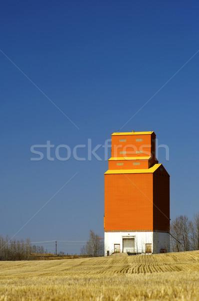 Grain elevator on the Canadian prairies Stock photo © Habman_18