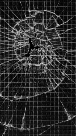 Shattered reinforced glass Stock photo © Habman_18