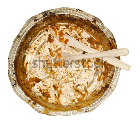 Vazio alumínio comida recipiente bandeja Foto stock © Habman_18