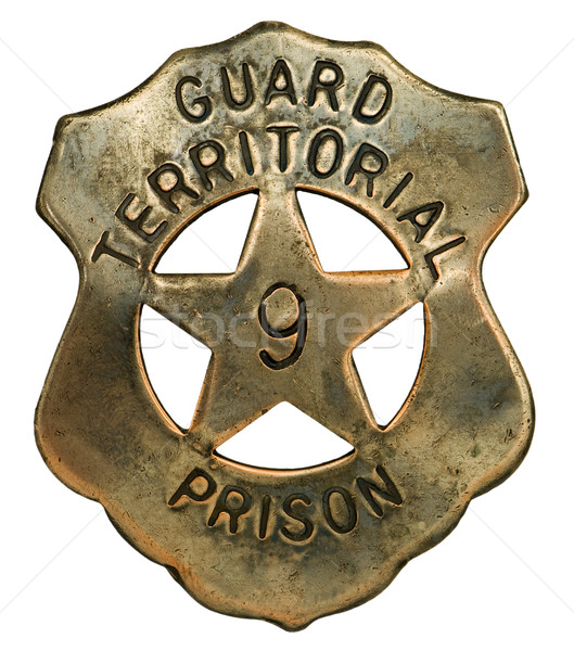 Carcere guardia badge Arizona americano Foto d'archivio © Habman_18
