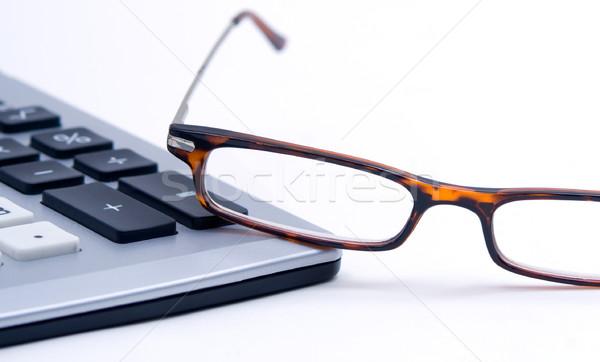 óculos calculadora sessão borda branco Foto stock © Habman_18