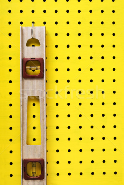 Used level hanging on pegboard Stock photo © Habman_18