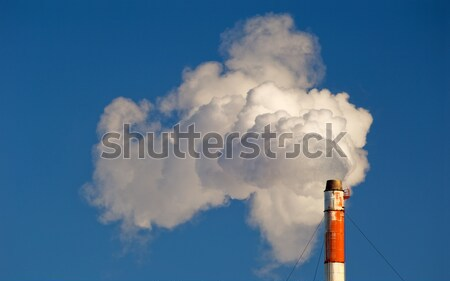 Industrial smokestack with smoke and steam Stock photo © Habman_18