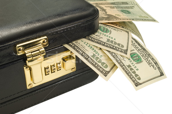 Briefcase with American money Stock photo © Habman_18