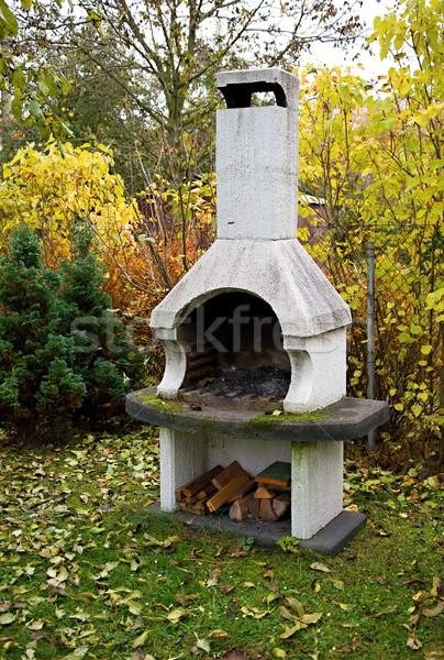 Garden fireplace Stock photo © hamik