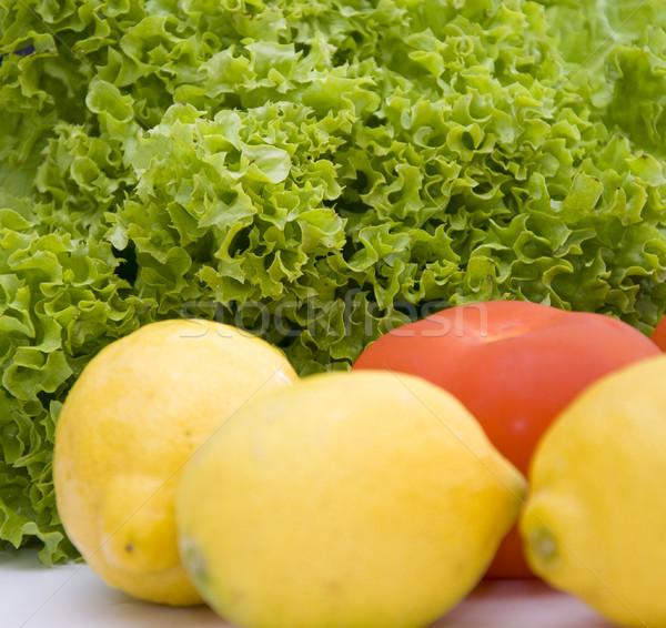 新鮮な サラダ レタス レモン トマト ストックフォト © hamik