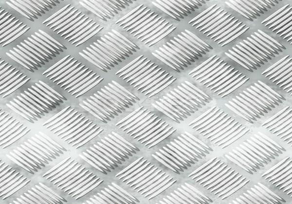 Ribbed metal plate Stock photo © hamik