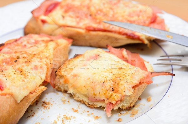 Ham toast Stock photo © hamik