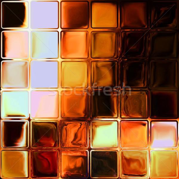 Fire glass tiles Stock photo © hamik
