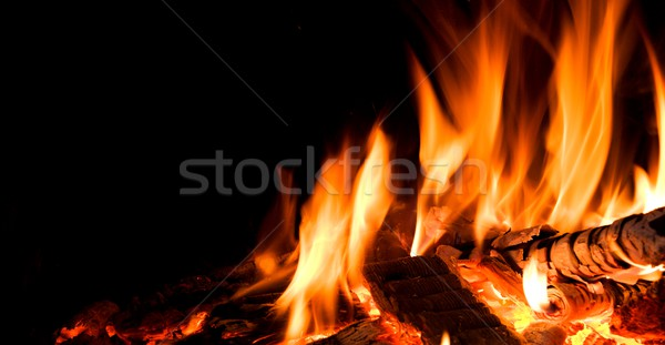 Detail of fire. Stock photo © hamik