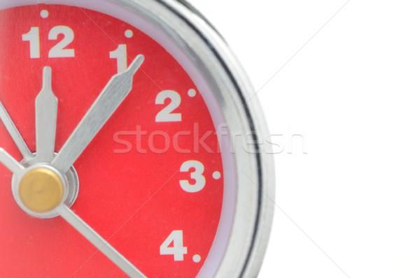 Despertador macro tiro números vermelho fundo Foto stock © hamik