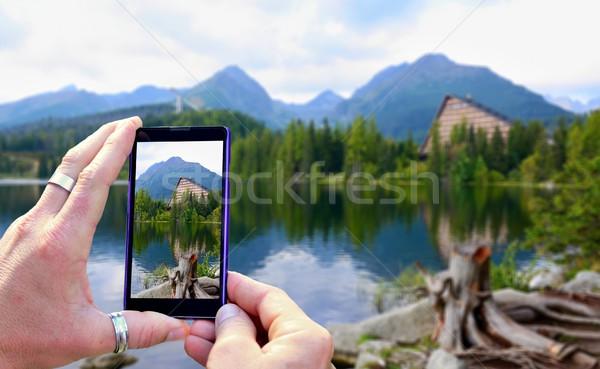 Foto view cellulare display foto Foto d'archivio © hamik