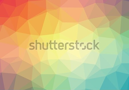Color polygonal background Stock photo © hamik