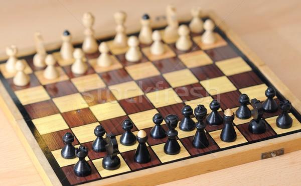 шахматам игры мнение шахматная доска группа Сток-фото © hamik