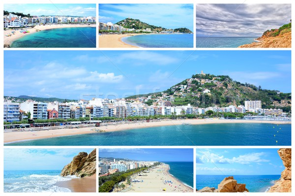 Costa Brava photo collage Stock photo © hamik