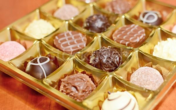 チョコレート ボックス キャンディ 脂肪 白 ストックフォト © hamik