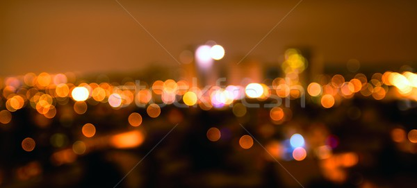 Defocused night city lights Stock photo © hamik