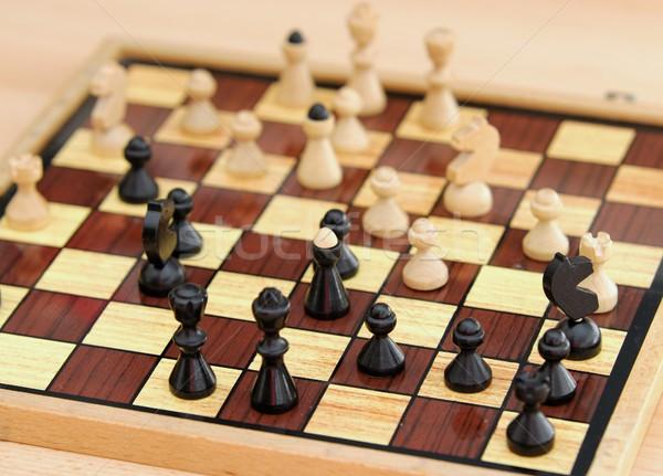 Xadrez jogo ver tabuleiro de xadrez grupo Foto stock © hamik