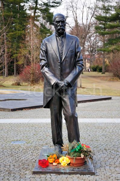 Tomas Garrigue Masaryk statue  Stock photo © hamik