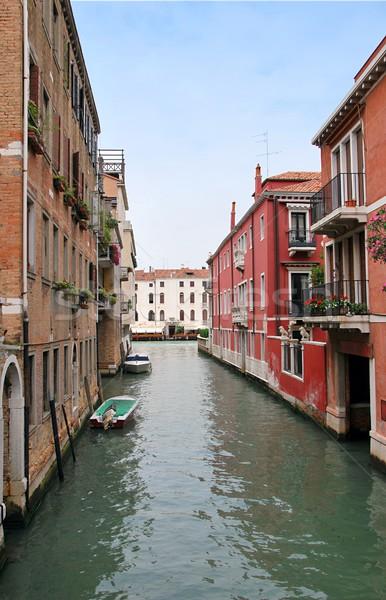 Veneza Itália casa estrada mar verão Foto stock © hamik
