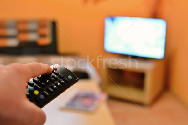 Switching the TV Stock photo © hamik