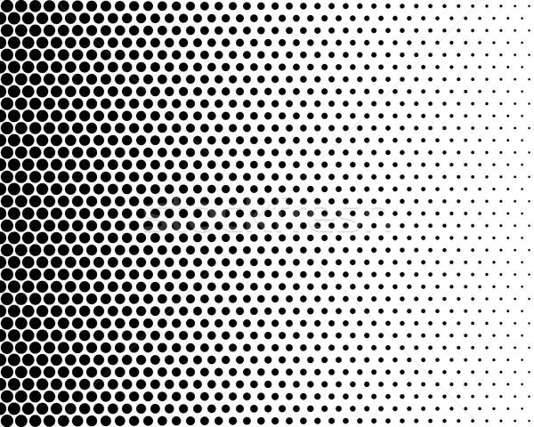 Medios tonos efecto básico blanco negro color punto Foto stock © hamik