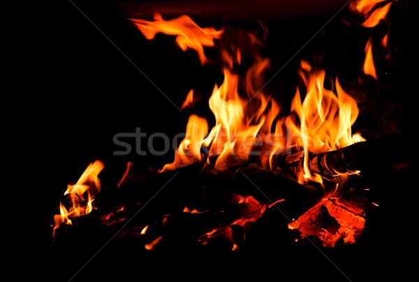 Detail of fire. Stock photo © hamik