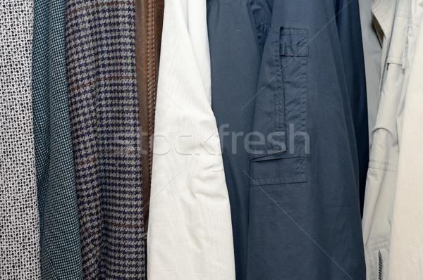одежды гардероб человека мужчин цвета белый Сток-фото © hamik