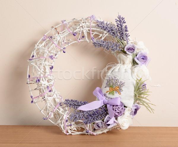 Casa decoração coroa lavanda Foto stock © hamik