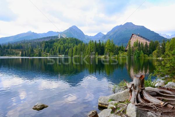 Strbske Pleso lake Stock photo © hamik