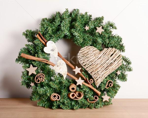 Natal decoração interior casa tabela amor Foto stock © hamik