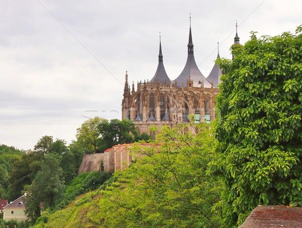 教会 有名な ゴシック チェコ語 共和国 風景 ストックフォト © hamik