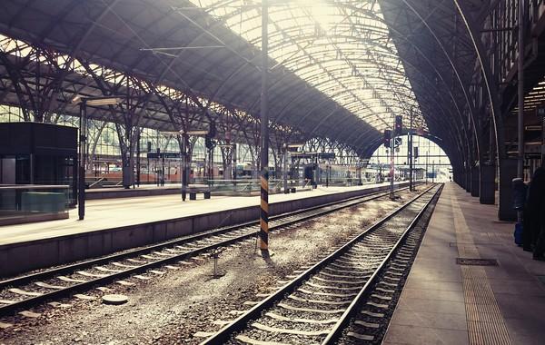 Grande estação de trem principal tcheco república construção Foto stock © hamik