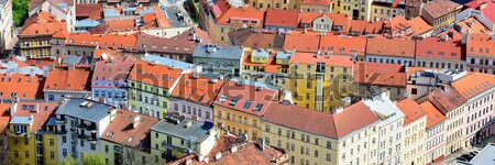 屋根 先頭 表示 赤 通り アーキテクチャ ストックフォト © hamik