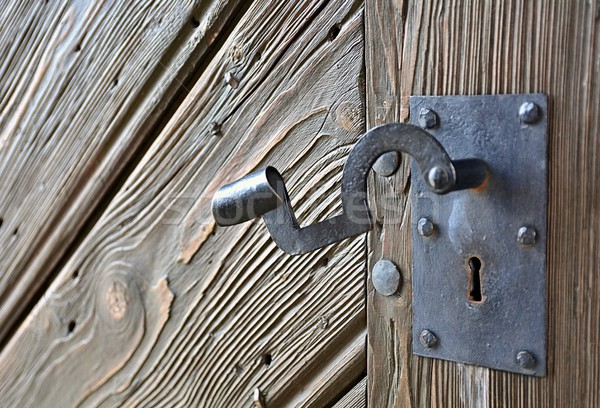 Old Metal Door Handle Stock photo © hamik