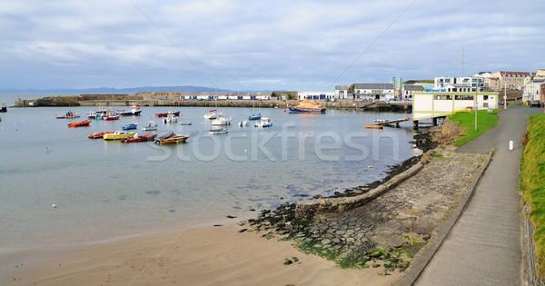 Pequeno cidade porto barcos norte Irlanda Foto stock © hamik