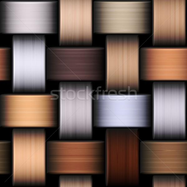 Bruin gebreid textuur illustratie naadloos ontwerp Stockfoto © hamik