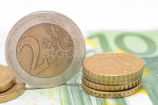 Euro monete banca nota finanziare successo Foto d'archivio © hamik
