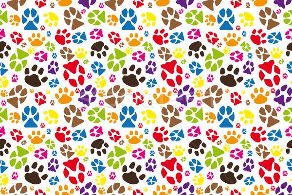 állat mancs minta jpg szín illusztráció Stock fotó © hamik