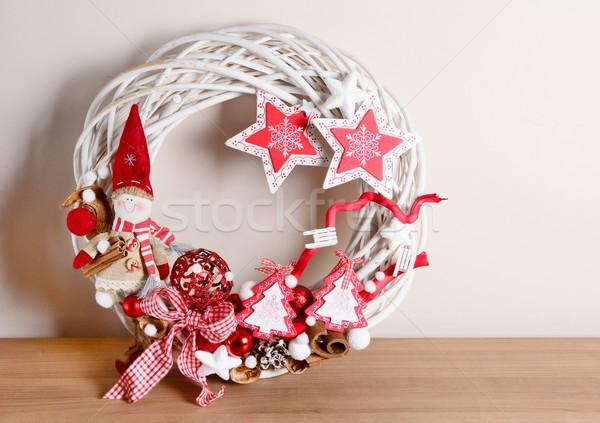 クリスマス 装飾 インテリア ホーム 表 中心 ストックフォト © hamik