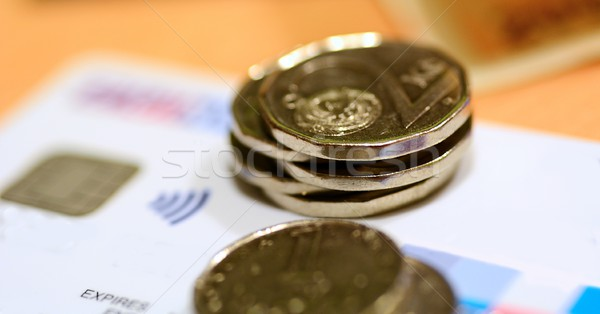 Coins on credit card Stock photo © hamik