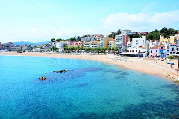 Praia beira-mar cidade destino cidade verão Foto stock © hamik