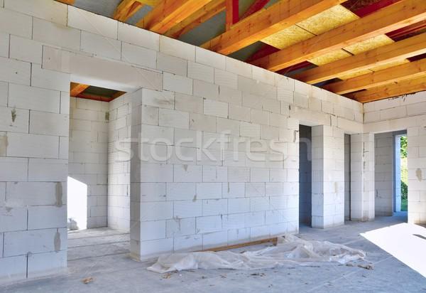 Casa construção interior concreto blocos Foto stock © hamik