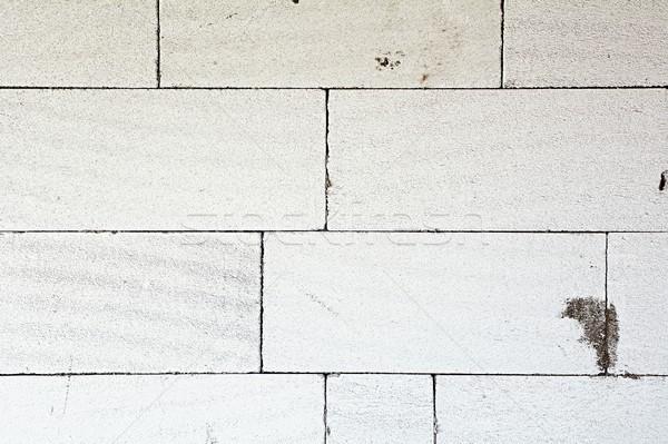 ブロック テクスチャ 壁 白 具体的な 家 ストックフォト © hamik