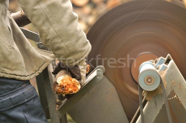 Circulaire vu homme travail travaux technologie Photo stock © hamik